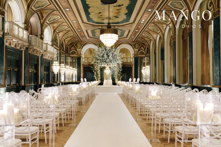 #venue #wedding #ceremony #elegant #bride #groom #weddingday #ideas #white #gold #details #elaborate #elegance #mangostudios