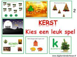Digibordles: 7 verschillende kerstspelletjes http://digibordonderbouw.nl/index.php/themas/kerst/kerst/viewcategory/362