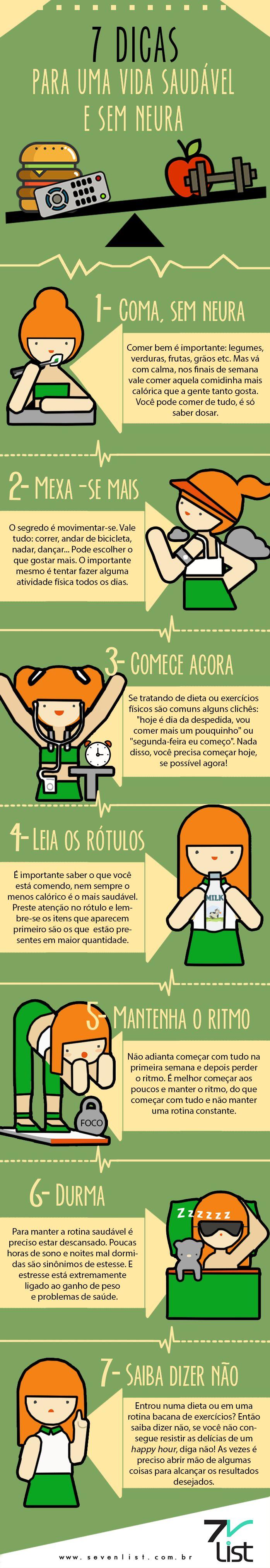 #Infográfico #Infographic #Sevenlist #Dicas #Saúde #Semneura #Alimentação #Viverbem #Bemestar #Lifestyle #Comer #Mexer #Exercitar-se #Comeceagora #Leia #Rótulos #Ritmo #Durma #Diganão #Não www.sevenlist.com.br