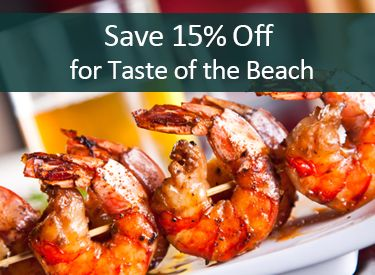 Stay in Pensacola Beach for Taste of the Beach in September and save 15% on your vacation!