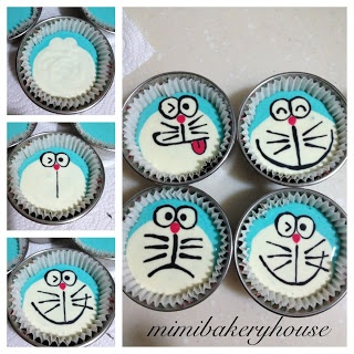 MiMi Bakery House: Doreamon Steamed Cupcakes
