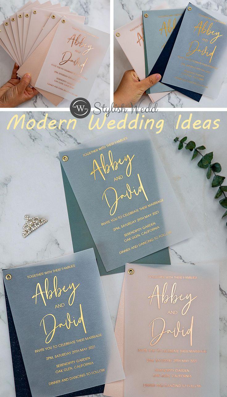 Vellum Wedding Invitations At Stylish Wedd Stylishwedd In 2020 Cricut Wedding Invitations Cheap Wedding Invitations Wedding Invitations Diy