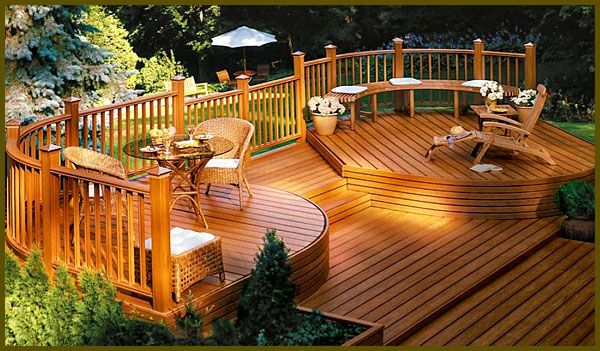 How To Build A Wooden Deck   Home Design Ideas