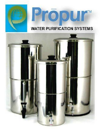 ProPur KING Stainless Steel Water Purification: Includes 2 ProBlack-D Domed Hi-Performance Filter Elements (NSF-42 certified). by ProPur. $289.00. Now there is a choice! Yes, it is better! Our ProPurTM BIG stainless steel water purification system is our second most popular size unit and is ideal for medium to large size groups of 4 people or more, whether at home, office, vacation, camping or college dorms!  The ProBlack-DTM water filter elements are manufactured to ...