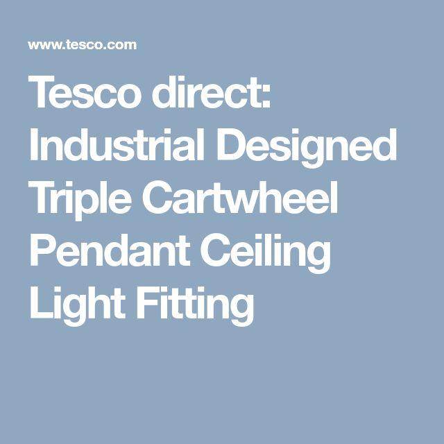 Tesco direct: Industrial Designed Triple Cartwheel Pendant Ceiling Light Fitting