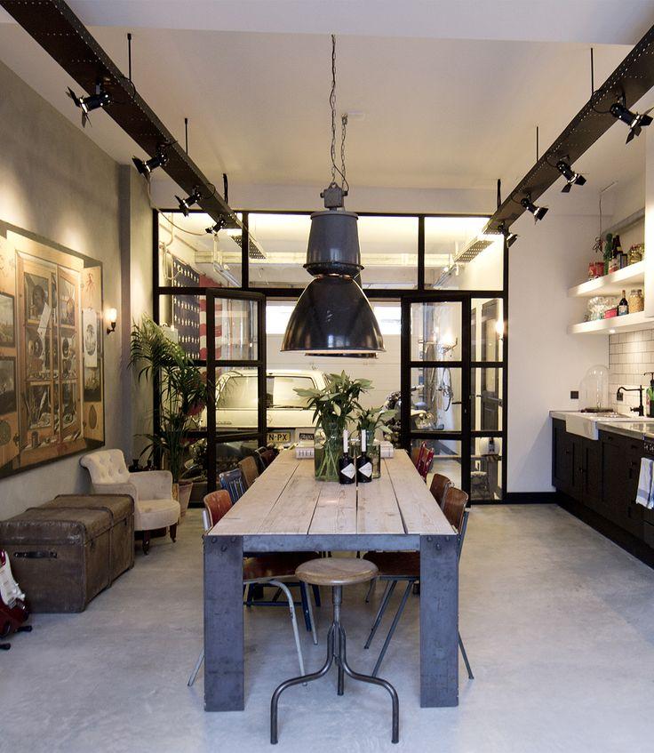 25 beste idee n over grote eettafels op pinterest - Hoe je je woonkamer eetkamer kunt verbeteren ...