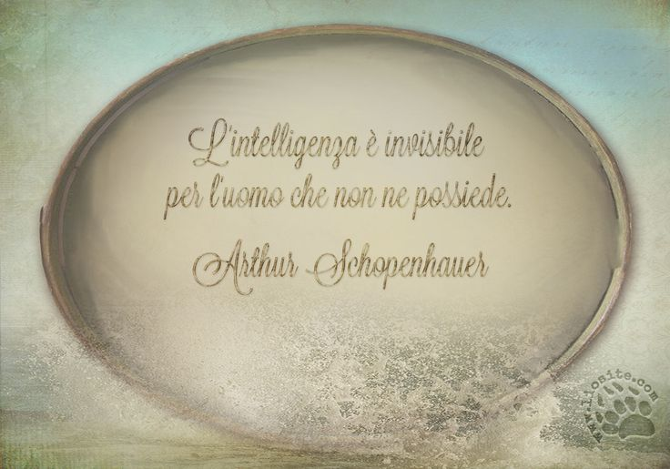 Accidenti se ce ne accorgiamo ;) L'intelligenza è invisibile per l'uomo che non ne possiede. Arthur Schopenhauer #arthurschopenhauer, #intelligenza, #aforisma, #citazione, #graphtag, #italiano,