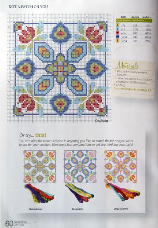 Patchwork Cushion chart
