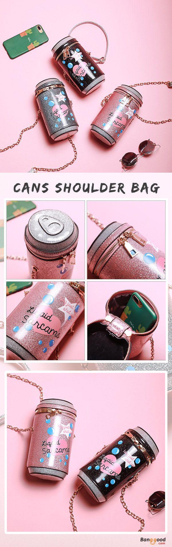 US$24.99+Free shipping. 50%OFF. Women Bags, Crossbody Bag, Shoulder Bag, Color: Gray, Black, Pink. Cans Design, Unique Bag for you! Shop now~