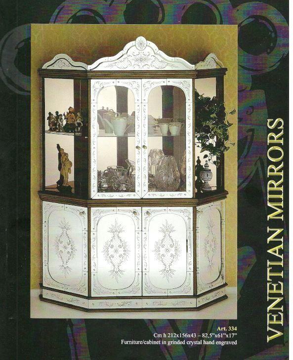 Armoire Commode Cristal Murano - Vitrine miroir cristal venise - armoire commode cristal murano