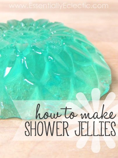 How to Make Shower Jellies | www.EssentiallyEclectic.com | These shower jellies are amazing! Learn how to make your own jelly soap at home!