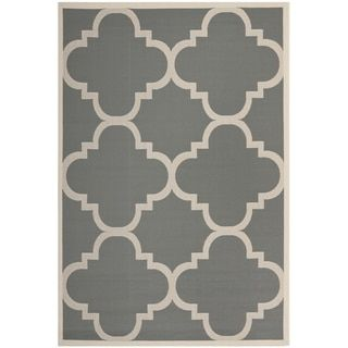 Safavieh Courtyard Grey/Beige Moroccan-Style Indoor-Outdoor Rug - Free Shipping On Orders Over $45 - Overstock.com - 14819395 - Mobile