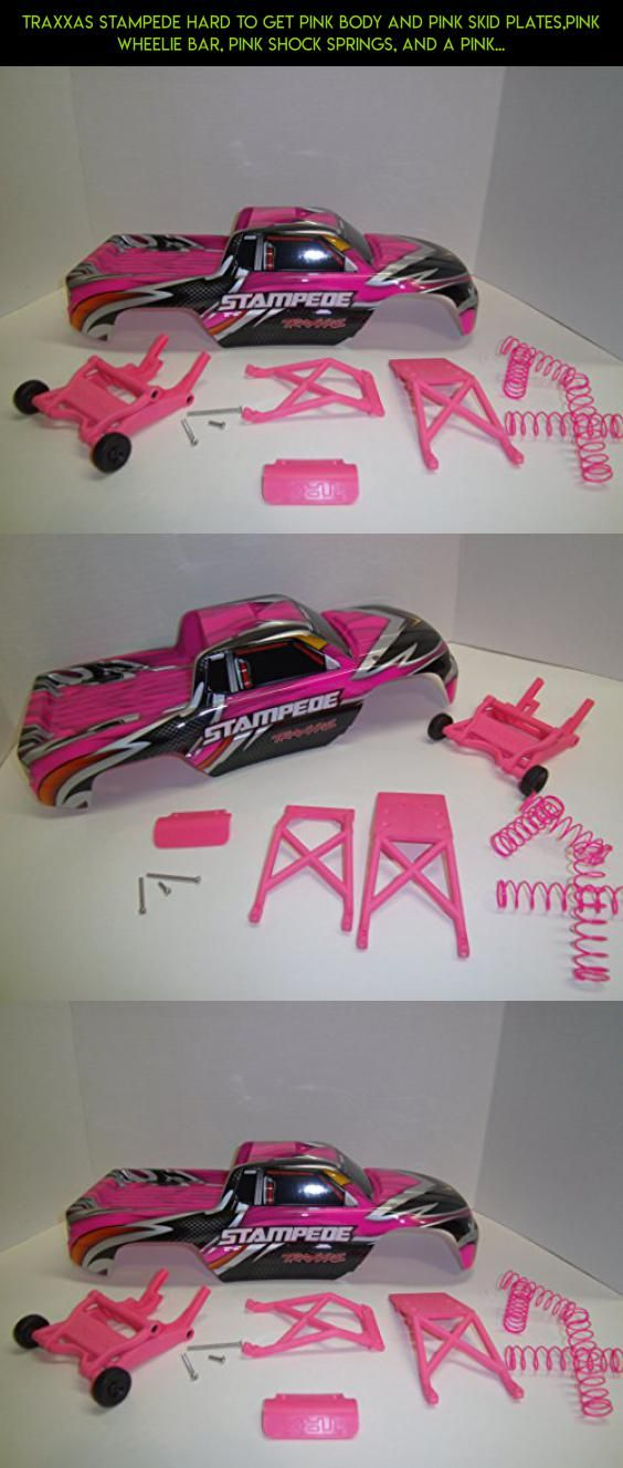 TRAXXAS STAMPEDE HARD TO GET PINK BODY AND PINK SKID PLATES,PINK WHEELIE BAR, PINK SHOCK SPRINGS, AND A PINK BUMPER. #drone #products #racing #shopping #plans #tech #kit #4690 #gadgets #parts #camera #technology #fpv #traxxas