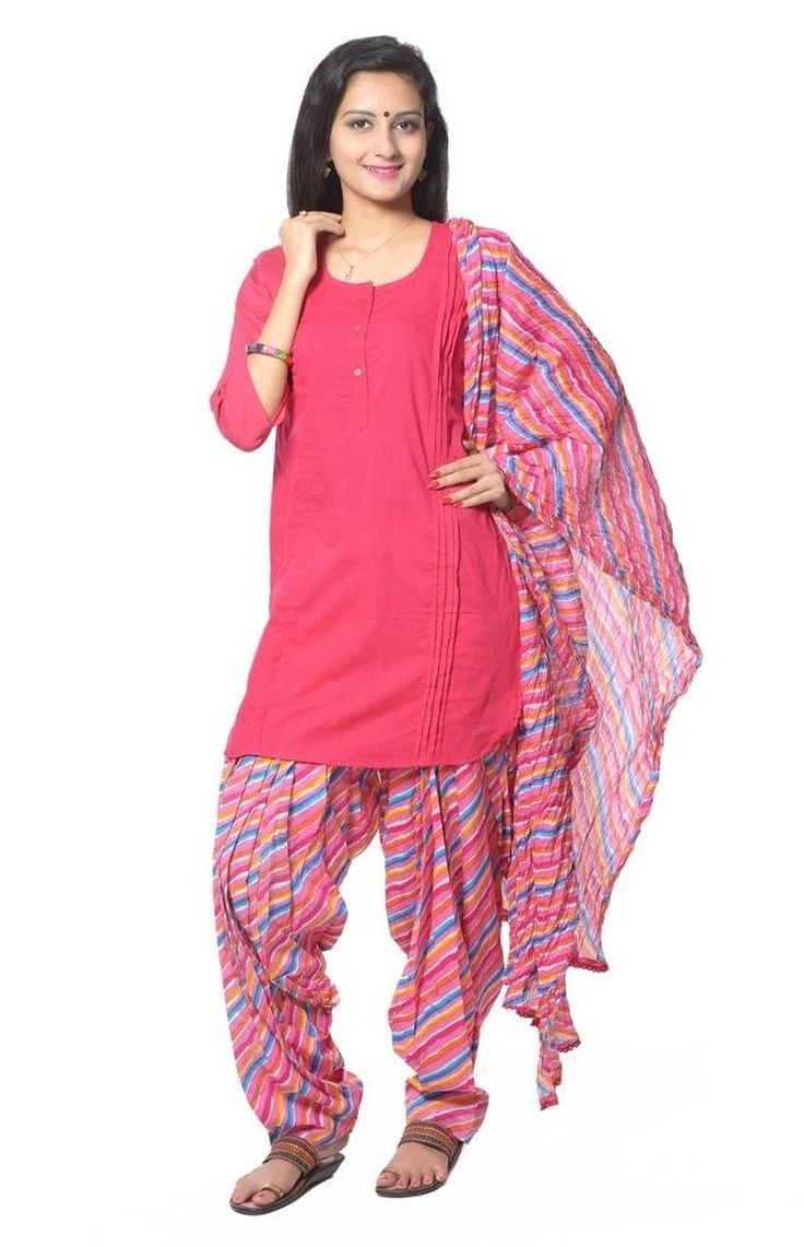 RED SOLID COTTON SALWAR SUIT