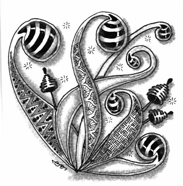 Lily's Tangles - #zentangle  #drawing #art