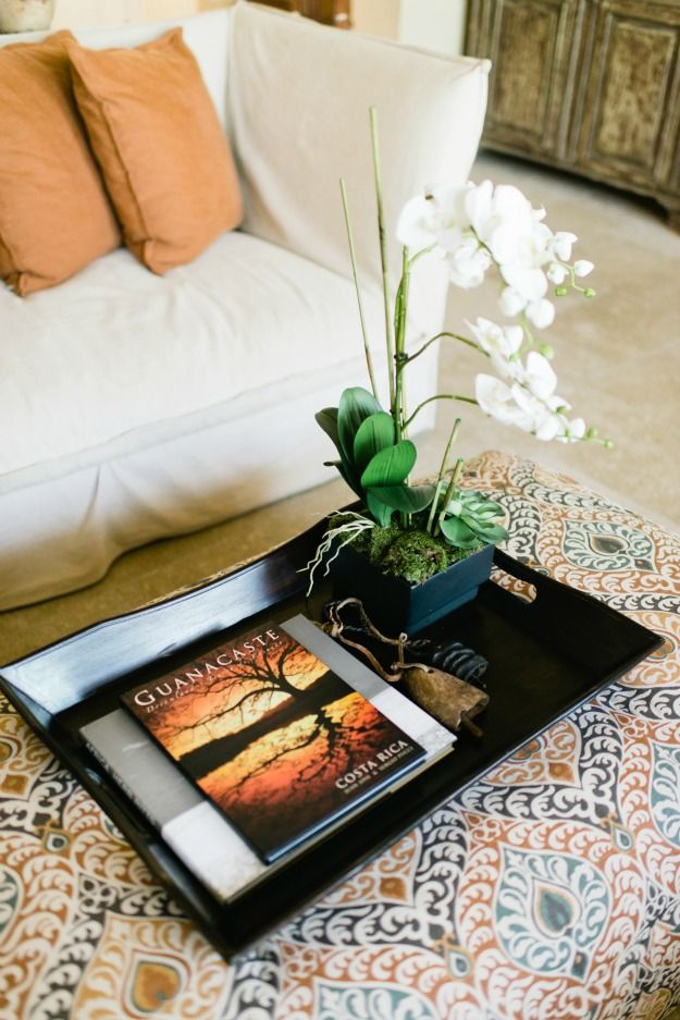 A Cly Simple Black Tray Placed On An Ottoman Diy By Karin H