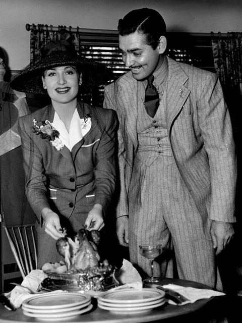 Carole Lombard and Clark Gable celebrate their  first wedding anniversary