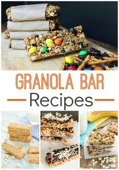 Easy Granola Bar Recipes! Find your favorite now!