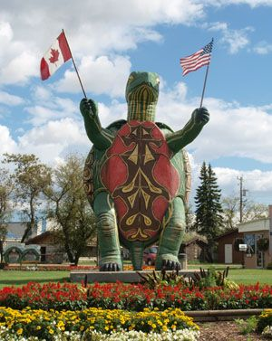 Turtle Statue - Visitors - Boissevain, Manitoba, Canada. Tommy the Turtle! #GIlovemanitoba