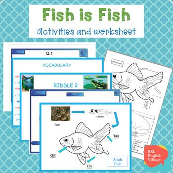 Fish Is Fish PowerPoint Smart Board Activities And