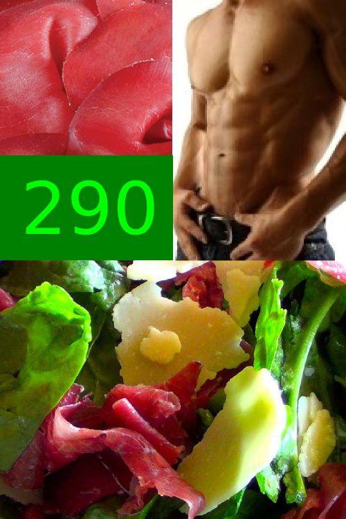 Insalata spinaci, grana e bresaola. 290 gustose calorie. Solo su www.strabuon.org