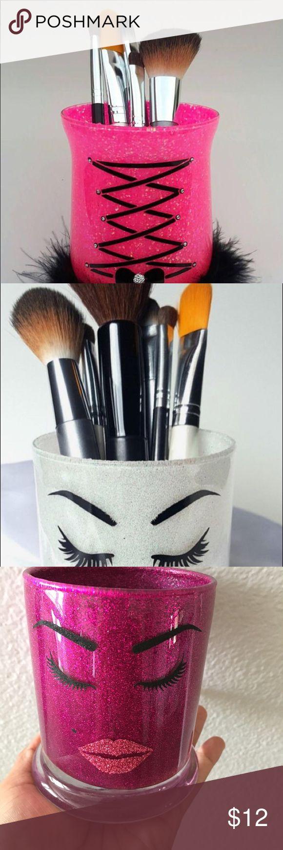 Glass Cup Holder Brush Makeup 💄 Glitter Brush. Makeup