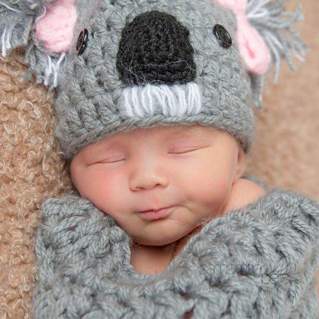 Gorgeous newborn photo taken by @samanthapellsphotography a few years ago.  So adorable! .  .  .  .  .  #koala #newbornphotographyprop #crochet #babywinterhat #crochetbeanie #ilovecrochet #crochetaddict #ilovebeanies #handmade #crochetart #yarnart #babygift #crochetersofinstagram #craftastherapy #crochetgirlgang #craftersofinstagram #instacrochet #crafter #etsy #etsyseller #etsyshop #kbabies #fullyhooked