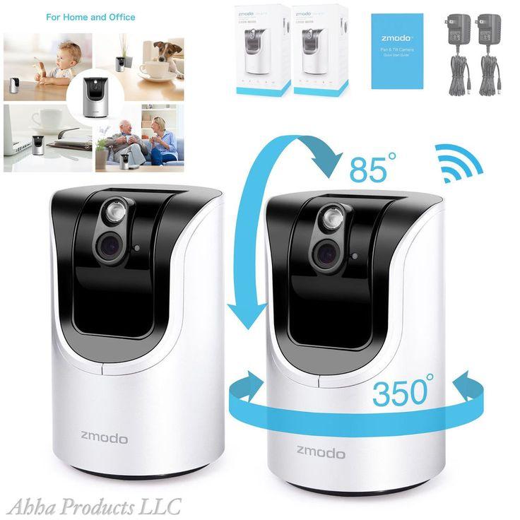 2pc Zmodo 350 Rotating Wireless Home Security 720p Video Surveillance Camera Ir Zmodo