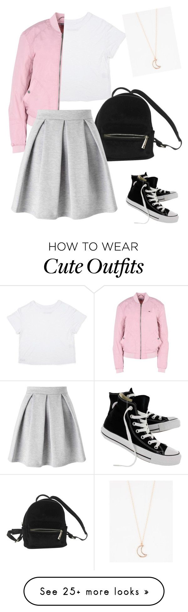 """""""Simple & Cute"""" by keana-browne on Polyvore featuring Converse, Urban Outfitters, Hilfiger Denim, Miss Selfridge and Full Tilt"""