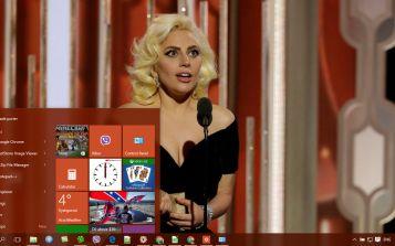 Lady Gaga Theme Desktop