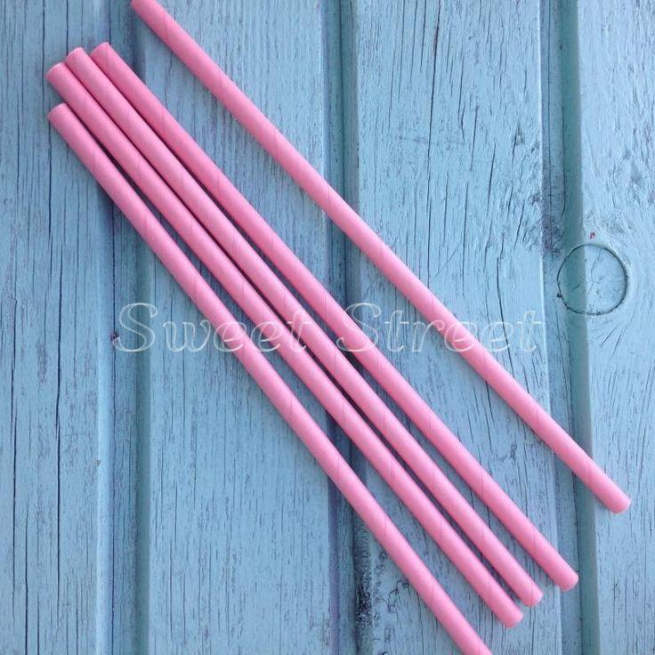 Трубочка для напитков бумажная Розовый зефир
