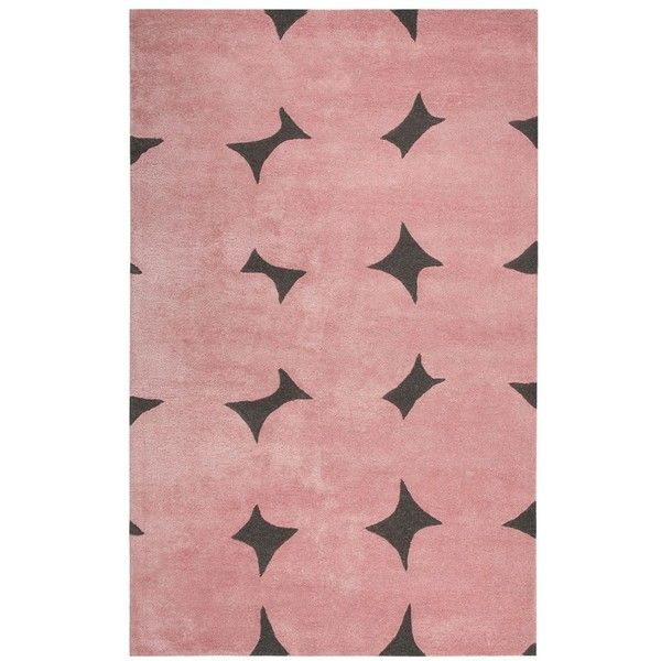 kate spade new york 'gramercy' dot wool & silk rug featuring polyvore, home, rugs, wool area rugs, oversized area rugs, dot rug, polka dot rug and polka dot area rug