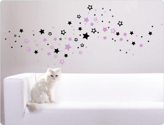 Wandtattoo Sterne zweifarbig