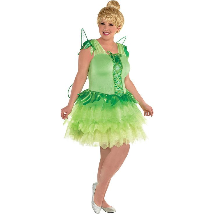 Adult costume plus size tinker bell