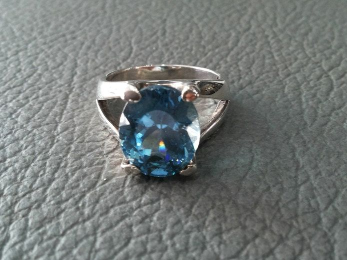 925 Sterling Silver RING, BLUE TOPAZ, Gemstones Ring,Handmade Sterling Silver, Silver Ring Jewelry,Birthstones.. by MoyokSilver on Etsy
