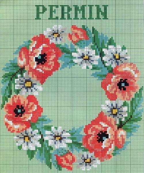 Permin Counted Cross Stitch Book of Flowers Florals Danish Charted Europe #PerminofCopenhagen