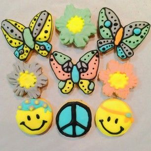 mini smile and butterfly cookies