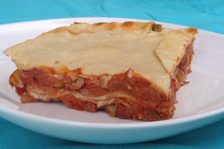 Mexicaanse enchilada lasagne, vegan