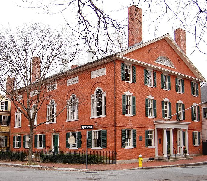 Hamilton Hall was built in 1805 by Samuel McIntire in Salem, Massachusetts. [Federal architecture]