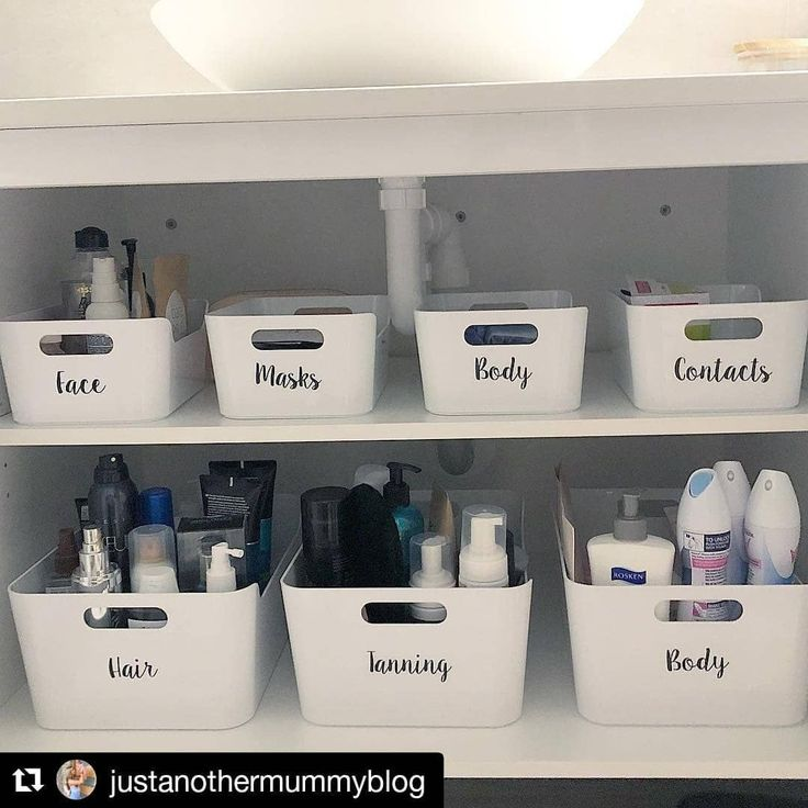 Add a shelf under bathroom sink