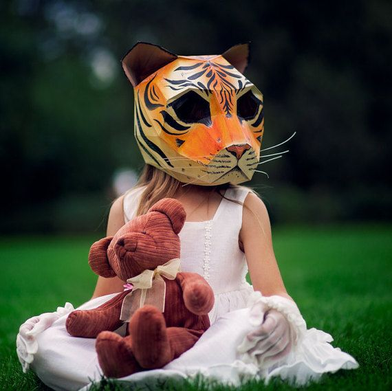Need a Cat Mask? Make your own from recycled card