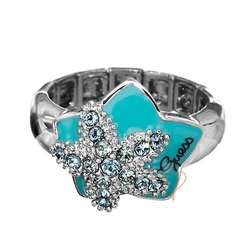 Δακτυλίδι Guess Silverplated με Turquoise Αστέρι - BeMine.gr