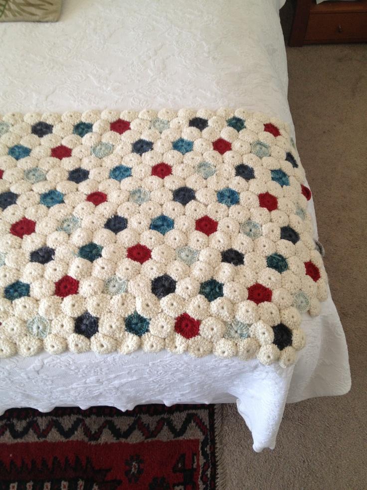 Crochet piecera throw