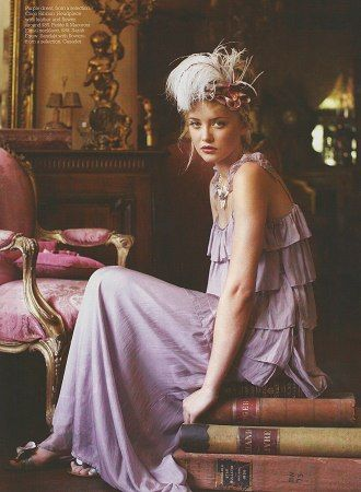 My friend Rae dresses for a Gatsby party at my place/