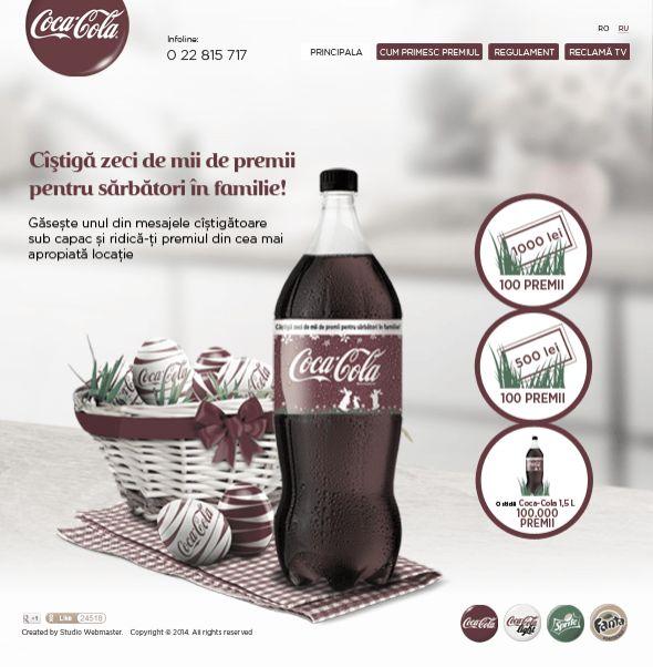Создание сайта известной марки газированных напитков Coca Cola