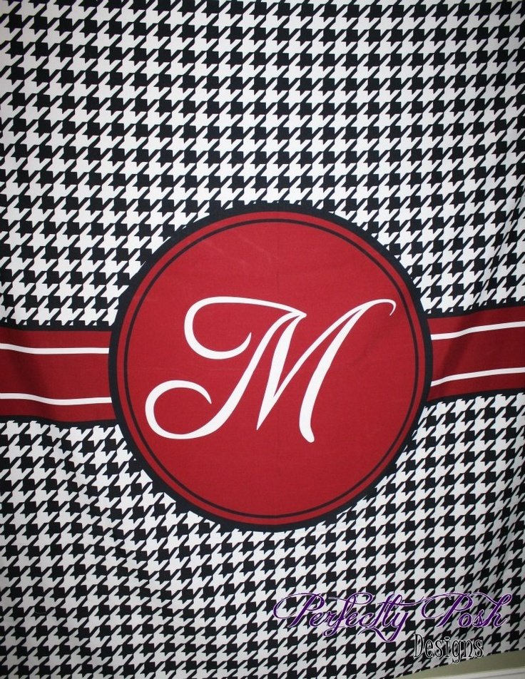Houndstooth Shower Curtain! Custom Designed And Personalized By Perfectly  Posh Www.itsperfectlyposh.com