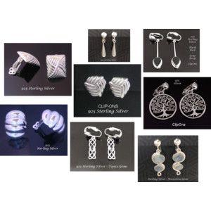 Sterling Silver Clip on Earrings - find them at https://www.etsy.com/shop/EarringsArtisan #cliponearrings #clipearrings #earrings #sterlingsilverearrings