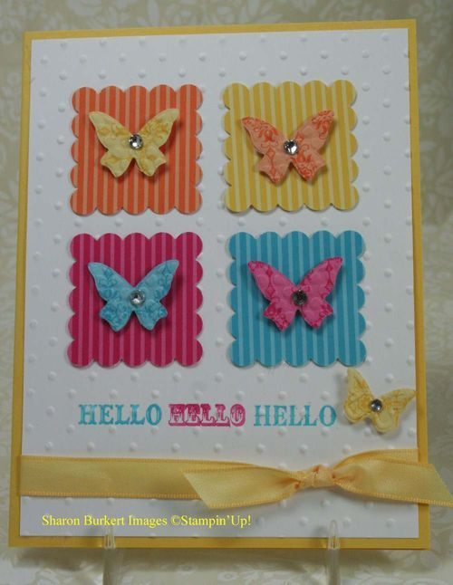 Cute idea for squares.  Use patterned paper or run solid or patterned paper through crimper.