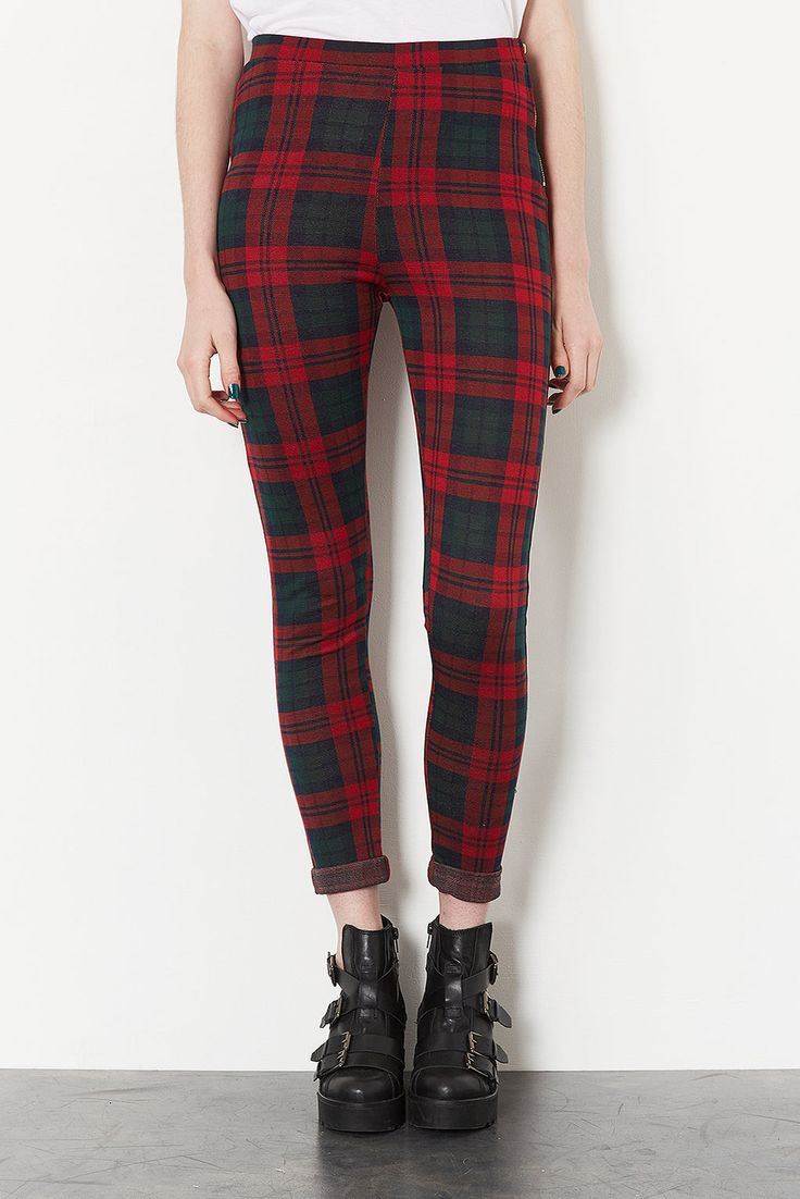 Topshop tartan trousers- have these, so comfortable