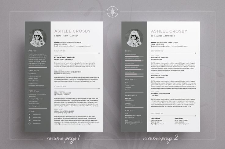 Resume/CV | Ashlee by Keke Resume Boutique on @creativemarket Professional Resume Template | CV Template | Resume Advice | Cover Letter | Word (Mac or PC) | Instant Digital Download